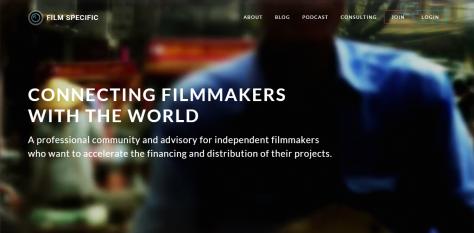 A website screenshot of filmspecific.com created by Doug Yuen