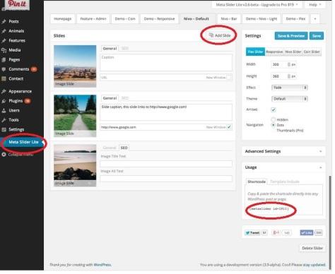 Meta Slider's user interface screen.